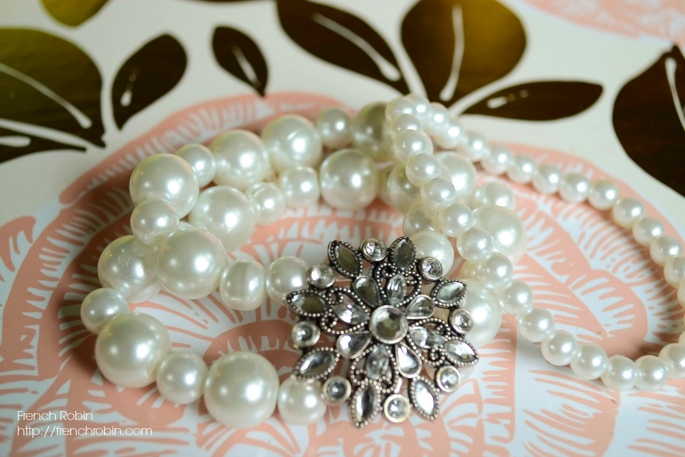 Strands of pearls are perfect for making a chunky bracelet.