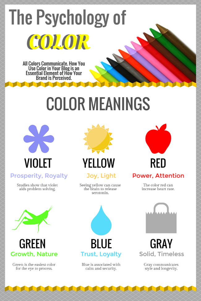 When branding your blog or designing your website, remember that the colors you choose can affect how your readers feel when they visit your site | Blogging Tips