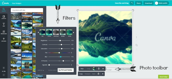 Add filters or other edits to your image.