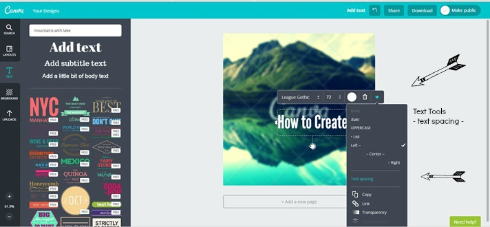 More tips for adding text to your images with Canva.