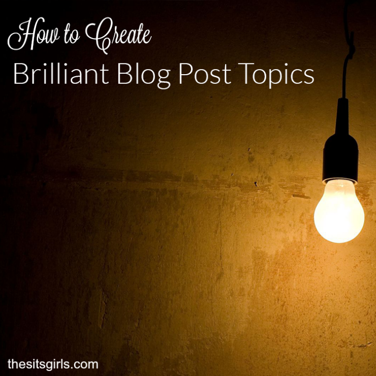 Learn how to use brainstorming to create brilliant blog post topics!