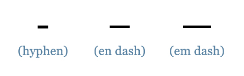 There are different kinds of dashes you can use in a sentence. The em dash shows a strong break.