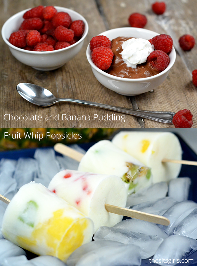 Two quick and easy summer treat recipes that will help you get in a dose of dairy and fun. Chocolate Banana Pudding Recipe | Fruit  Whip Pops