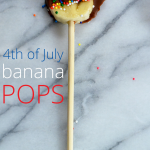 Cool down this summer with easy to make banana pops. Great recipe to get the kids in the kitchen. Give your banana pops a red, white, and blue theme, and they are an instant 4th of July treat.