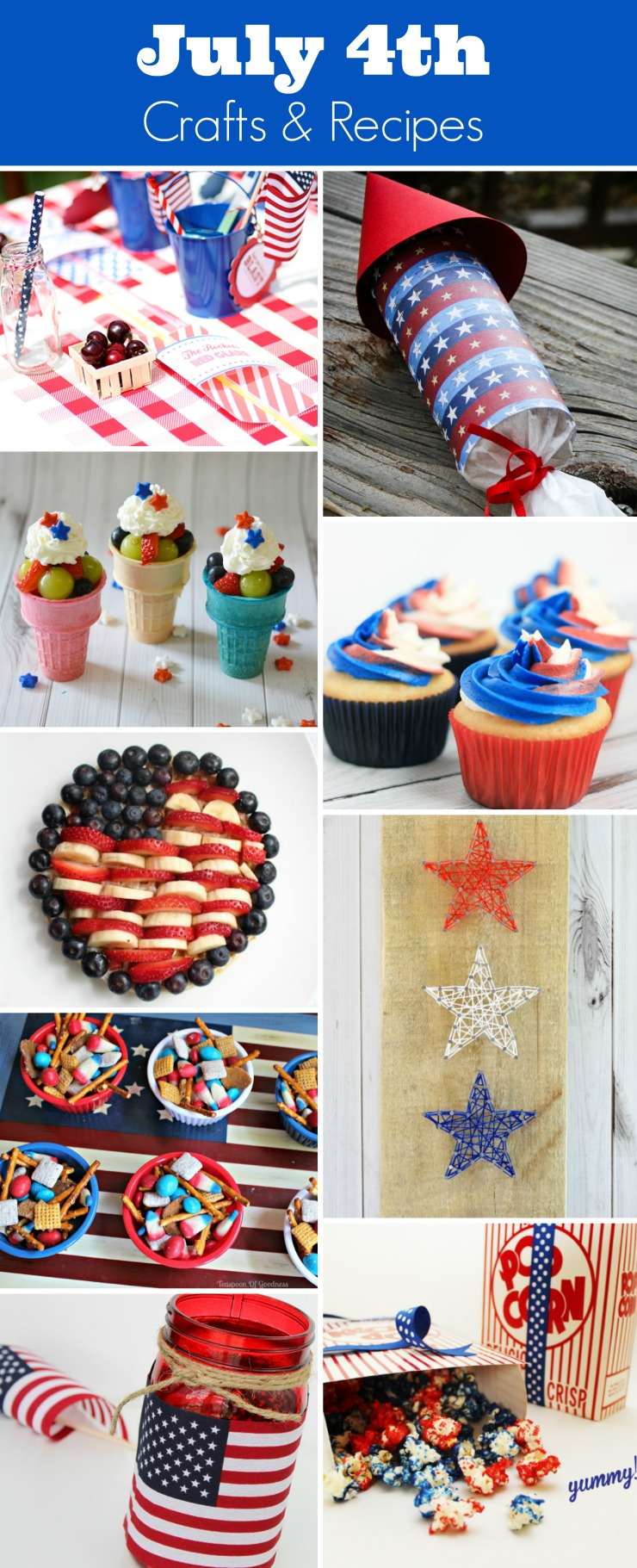 25 craft and recipe ideas for your July 4th celebration.