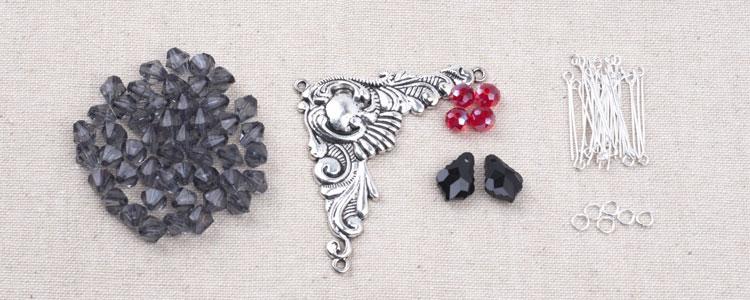 DIY Vintage Triangle Necklace Supplies