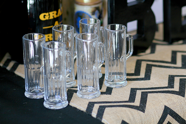 Miniature beer mugs - these are perfect for a beer tasting party.