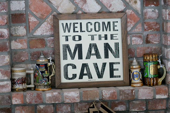 Welcome to the man cave!