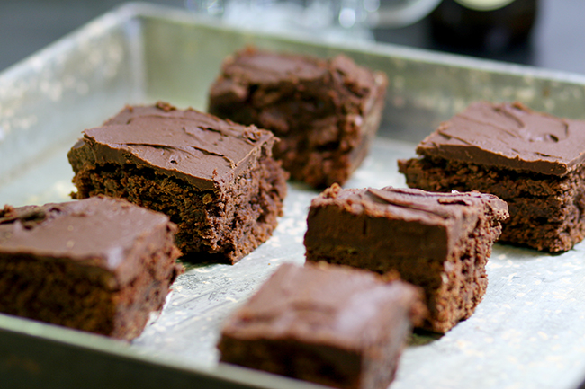 Brownies with a Guinness Ganache.