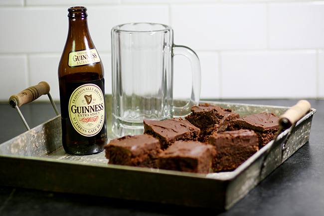 The perfect end to the best beer tasting party - brownies with a stout ganache.