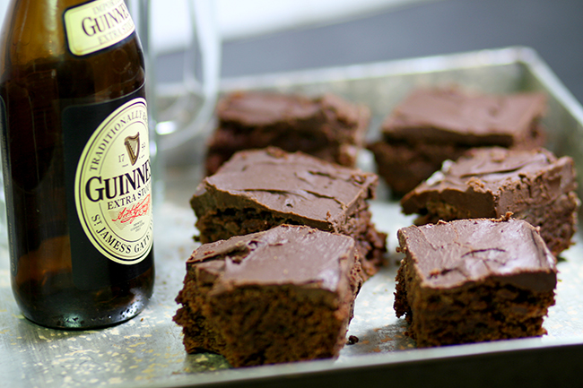 Brownies with Guiness. Yes, please! These look amazing!