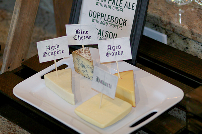 Cheese isn't just for wine. It is great for pairing with beer, too, for a beer tasting party.