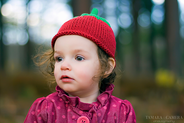 Little Girl In The Woods | Tomato Hat