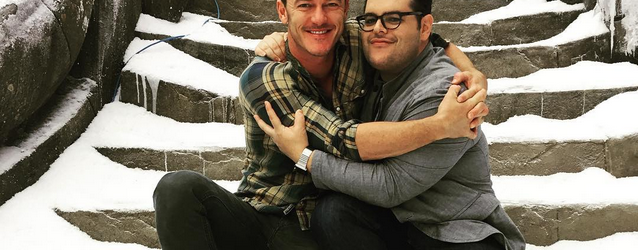 Josh Gad posts picture from new Beauty and the Beast set.