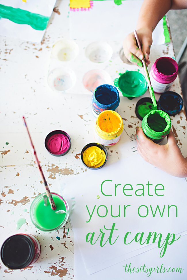 Kids getting restless in the long summer afternoons?  Create your own art camp with our three easy and fun projects.