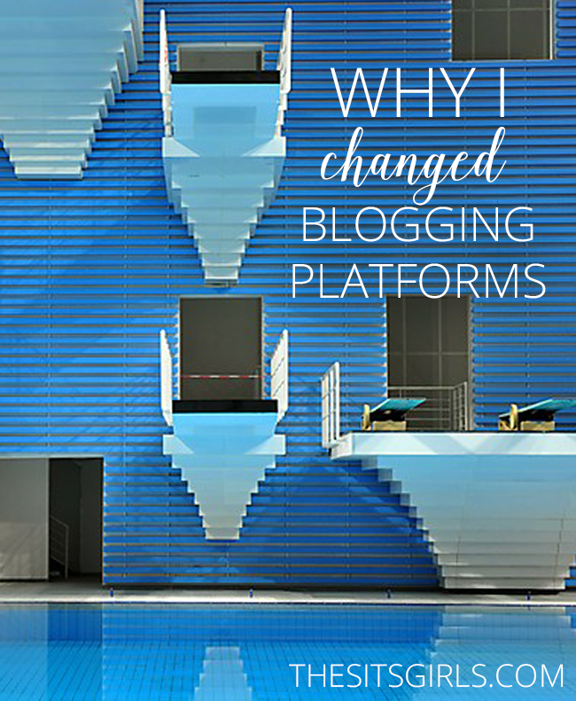 Blogging Tips | A blogger explains why she changed blogging platforms. If the platform you have now isn't working for you, it might be time for a change.