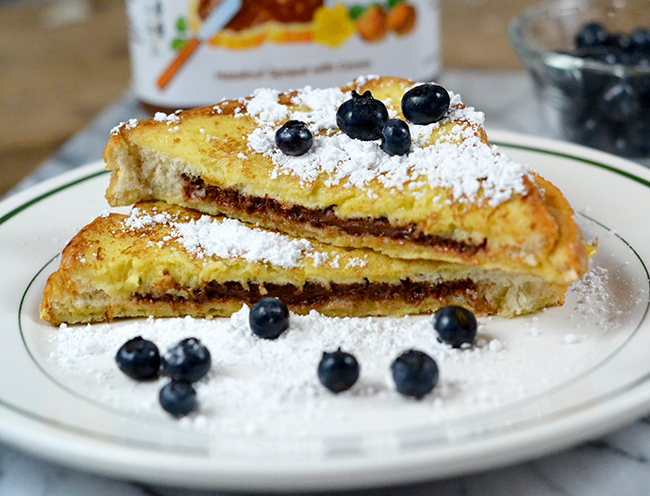 This is the best french toast recipe EVER. You will love the Nutella.
