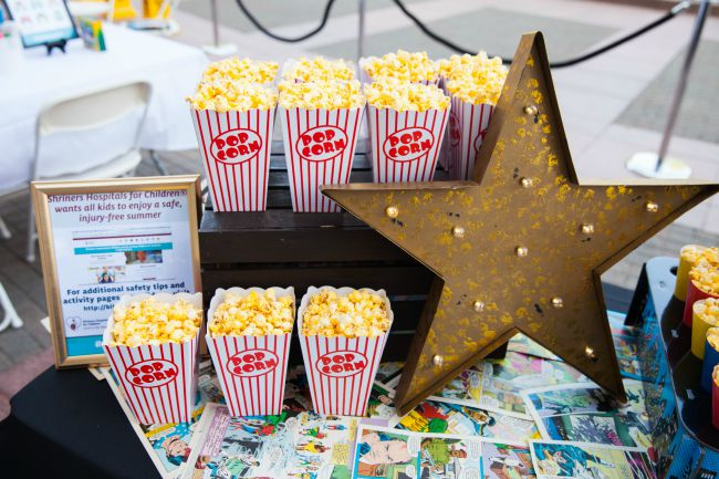 Popcorn is a great snack for a kid's event!