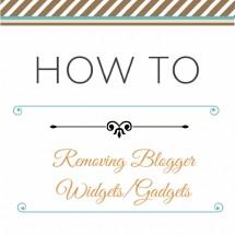 removing blogger widgets & gadgets
