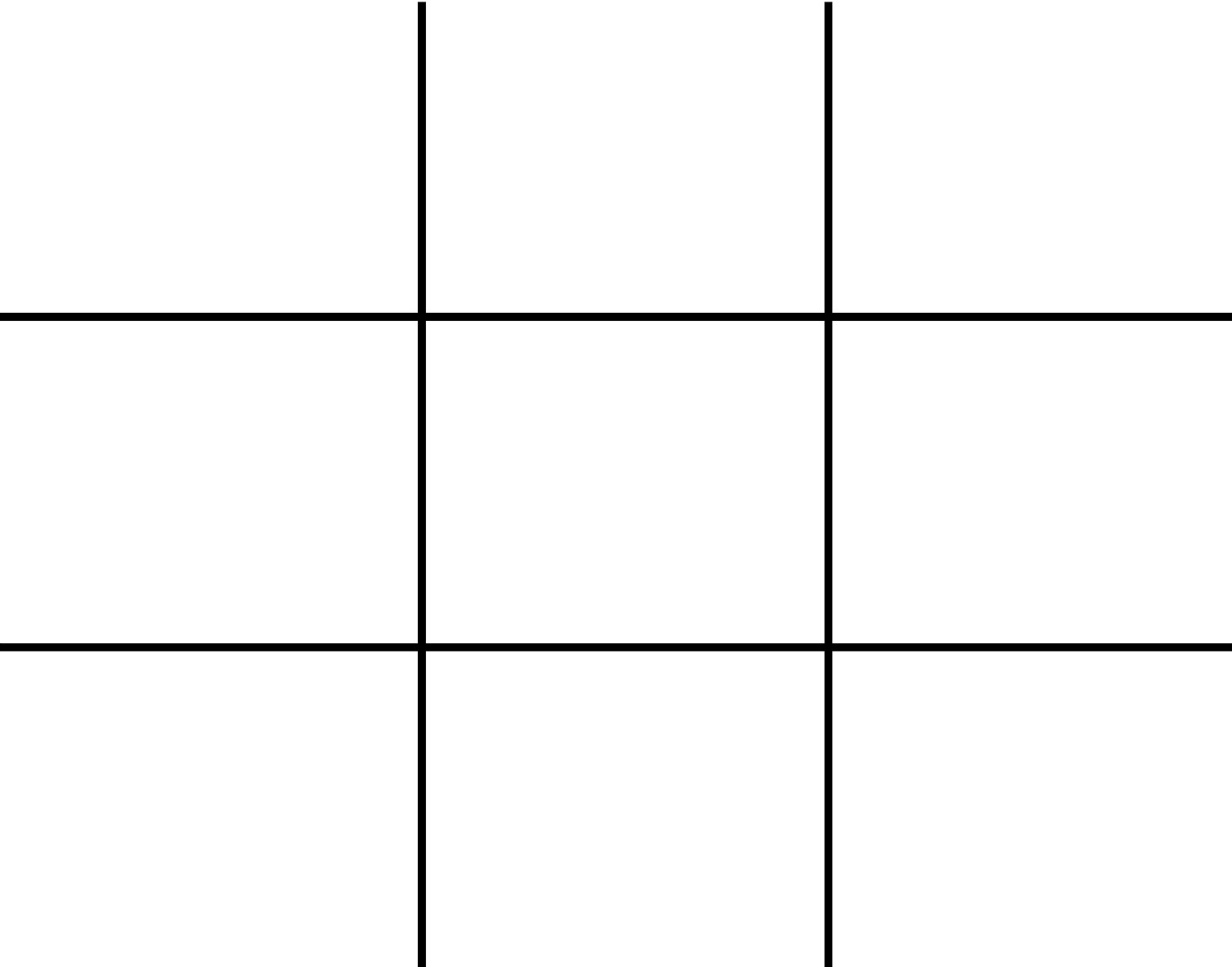 Grid For The Rule Of Thirds