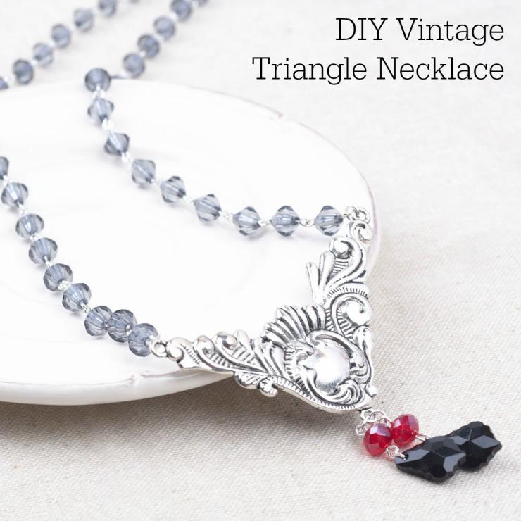 Easy DIY Jewelry Tutorial   Vintage Triangle Necklace