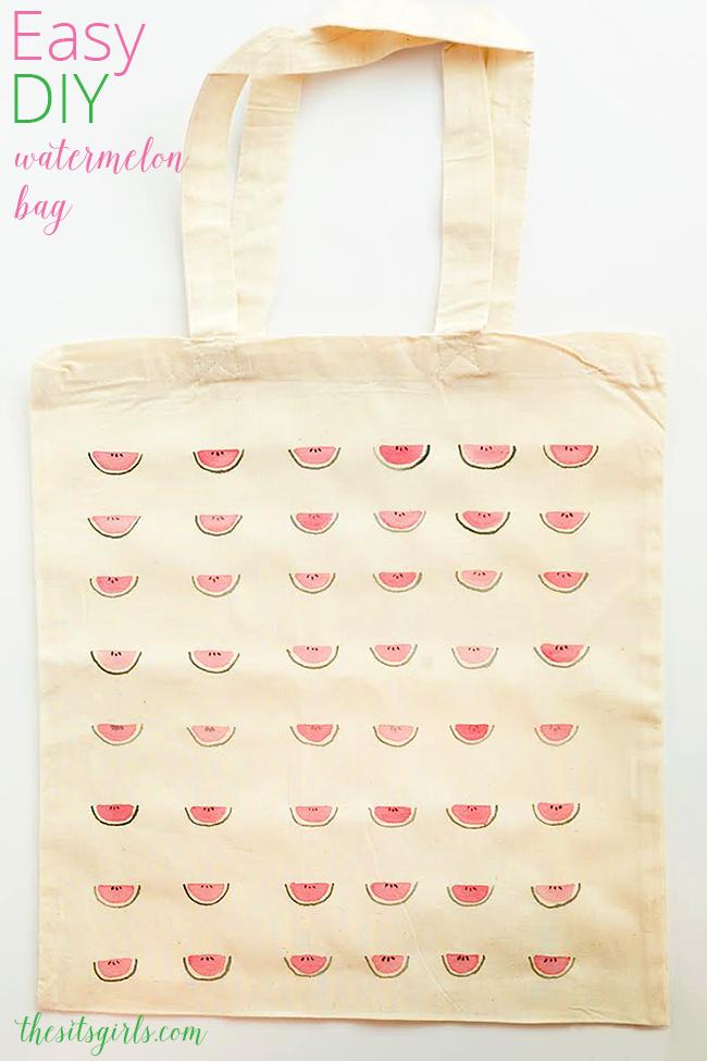 Easy DIY Watermelon Tote Bag