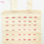 Easy DIY Watermelon Tote Bag