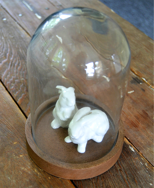 Glass Bunnies In A Dome