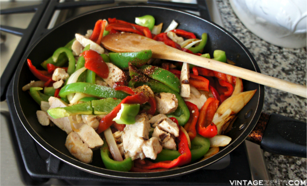 Easy Fajitas Recipe with Foster Farms® Refrigerated Grilled Chicken Breast Strips. AD ReadySetChicken