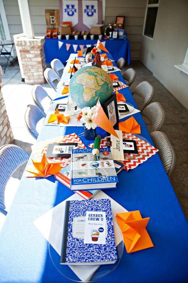 Cute back to school party table decor.