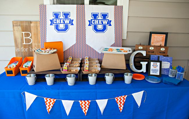 Gerber Chew U Party decor - great back to school theme party ideas.