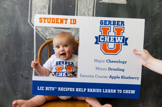 Baby who loves his Gerber food!
