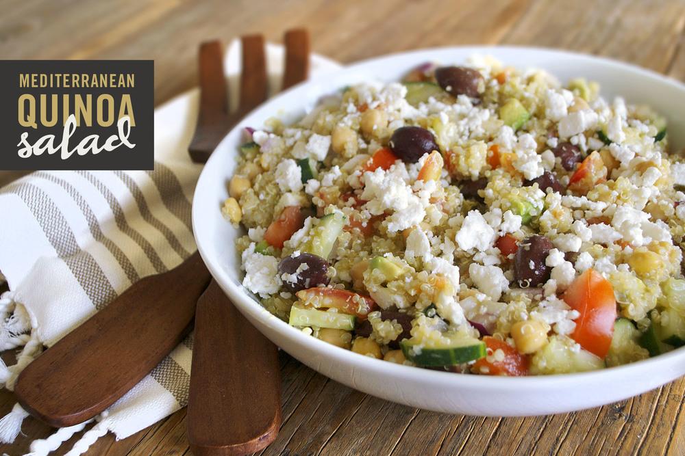 Mediterranean Quinoa Salad | This salad recipe is perfect for dinner.