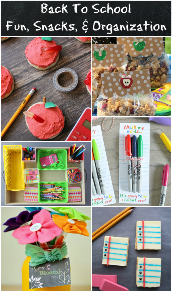 Back To School Fun Crafts Snacks Amp Organization