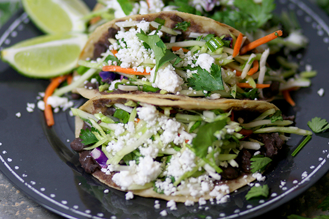 These black bean tacos are so healthy and nutritious. They will have you begging for more. It is a great way to serve veggies for kids!