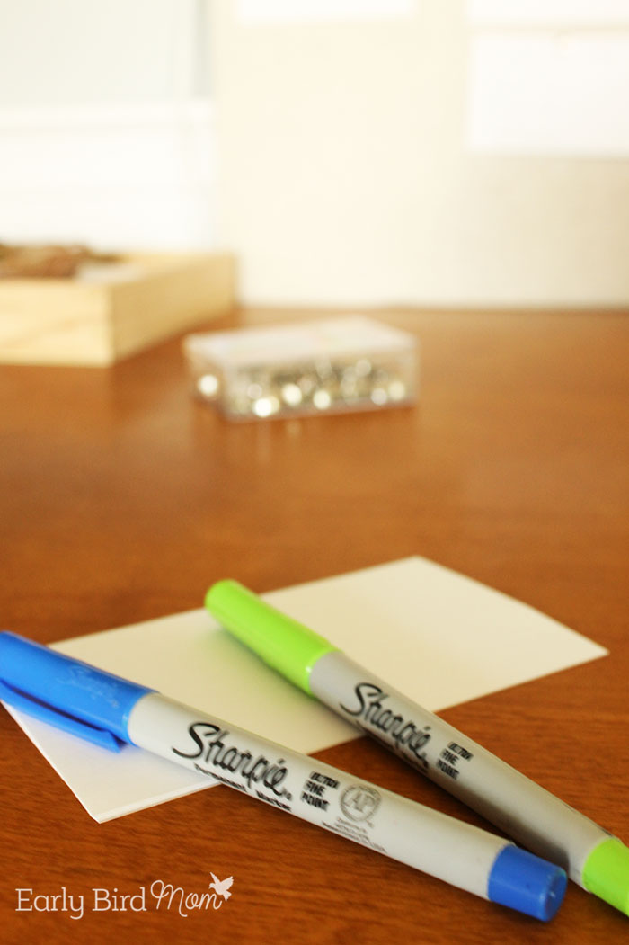 Blank note cards.
