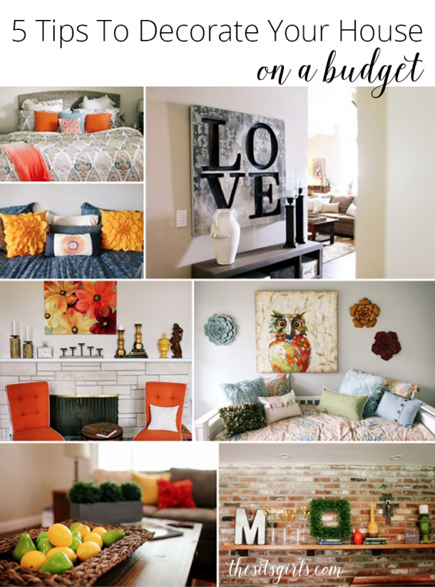 Home decor on a budget | Decorate your house without blowing your budget with these 5 tips.