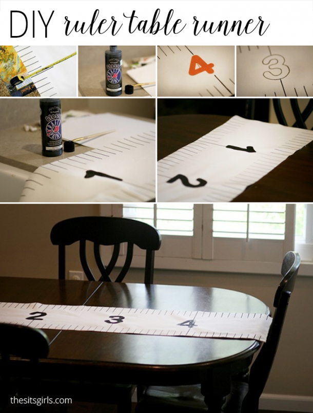 Ruler Table Runner | The perfect DIY party decoration for your back to school party.