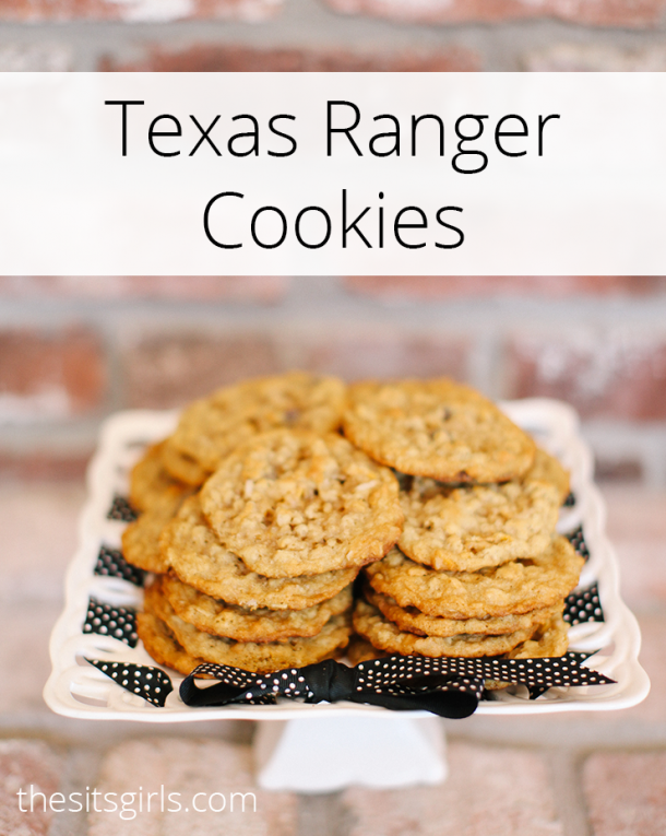 The best after school snack - Texas Ranger Cookies   This is a great cookie recipe for people who want something more fun than just a regular chocolate chip cookie. They have a fun secret ingredient!