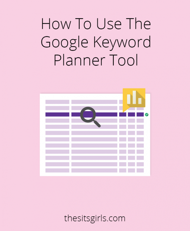 A step-by-step guide to teach you how to use the Google Keyword Planner Tool to choose the perfect keyword for your blog posts. This is a great, FREE tool for SEO that any blogger can use. | How To Blog | Blogging Tips
