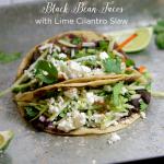 Black Bean Tacos With Lime Cilantro Slaw