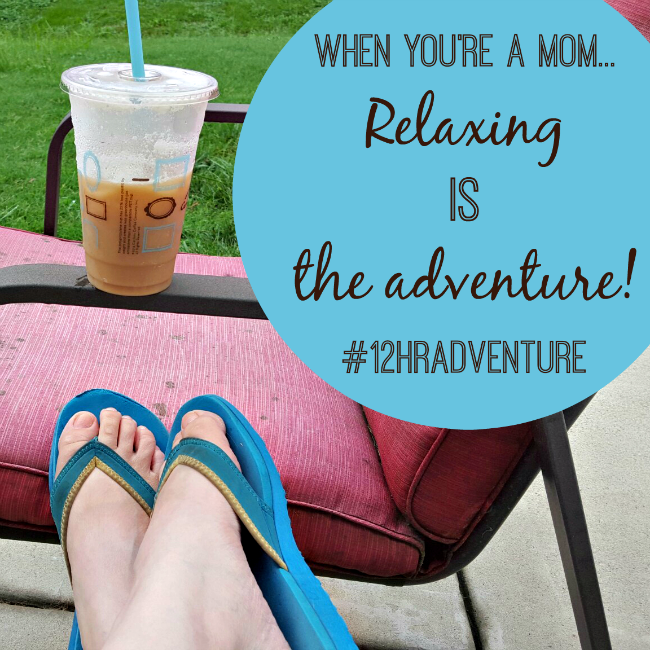 When you're a mom, relaxing is an adventure! Check out what a mom's 12hrAdventure looks like when you are getting ready for back to school, and how Caribou Coffee can help!
