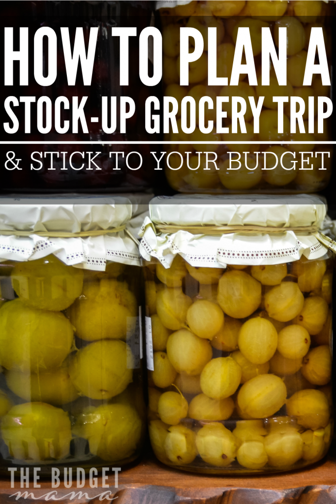 How to plan a stock-up grocery shopping trip, so you can keep your weekly grocery expenses under $100.