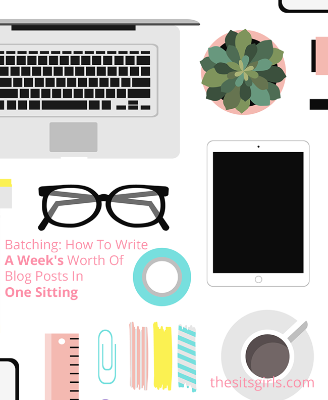 Blogging Tips | Learn how to use the batching method to write a week's worth of blog posts in one sitting. This will help you organize your blog, save time, and plan ahead!