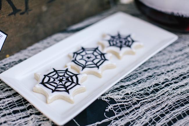Spiderweb sugar cookies were served at this insane Halloween bash!