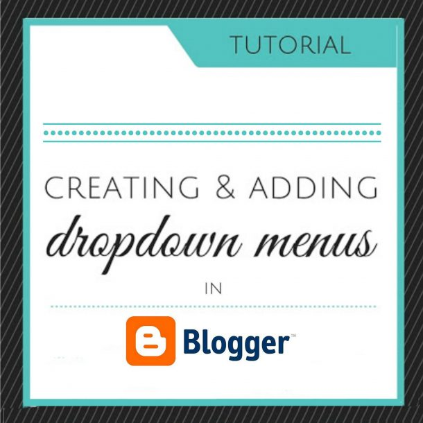 dropdowns in blogger