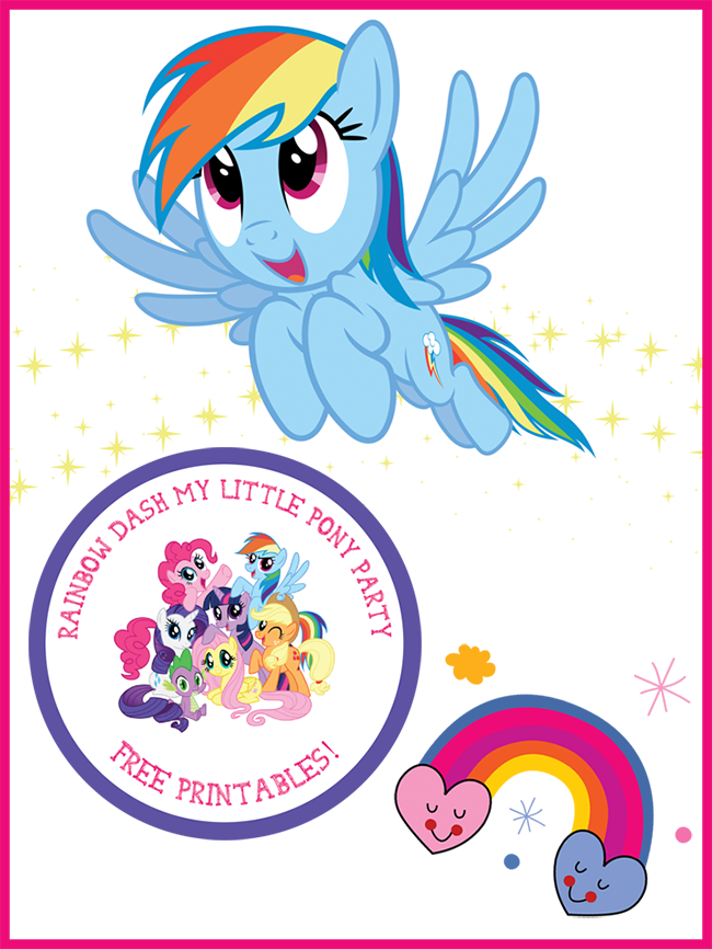 graphic regarding My Little Pony Printable known as My Minor Pony Rainbow Sprint Birthday Bash