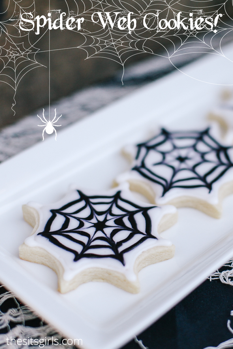 This sugar cookie decorating tutorial will show you have to create the spookiest Spiderweb Sugar Cookies — perfect for a Halloween party. Includes a royal icing recipe that you can use all year!