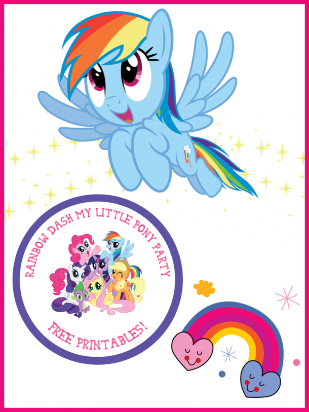Free My Little Pony Printables featuring Rainbow Dash! Great for a My Little Pony party, or just for the MLP lovers in your house.
