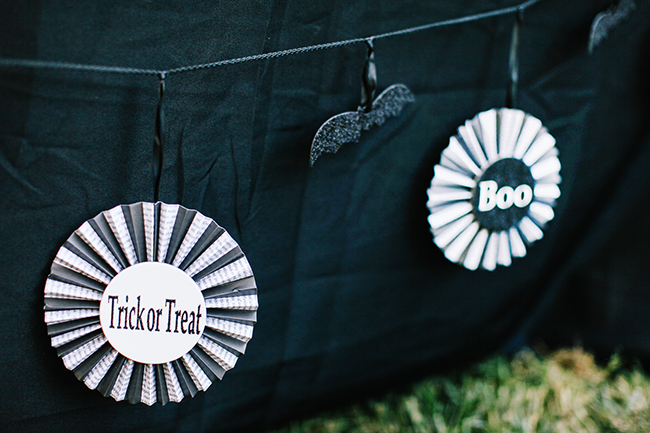 A paper fan garland is such a cute way to add instant Halloween party fun!